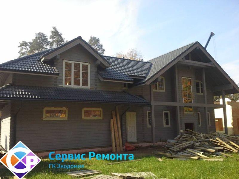 Отделка наружных фасадов частных домов